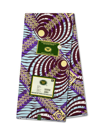 Vlisco Cotton Satin Gold Embellished VLCS456  -  NEW!