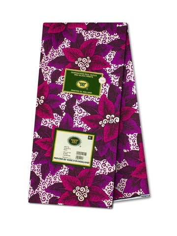 Vlisco Cotton Satin Gold Embellished VLCS467  -  NEW!