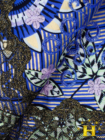 Vlisco Exclusive with Lace Embroidery: VL551