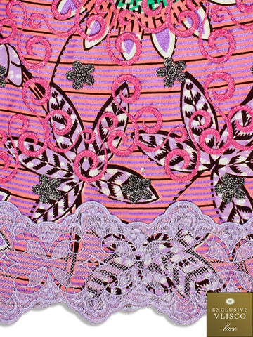 Vlisco Exclusive with Lace Embroidery: VL557