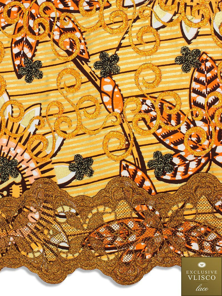 Vlisco Exclusive with Lace Embroidery: VL560
