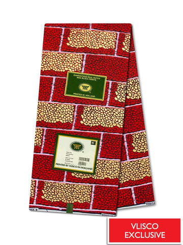 Vlisco Hollandais Gold Exclusive VHWLE108- NEW!
