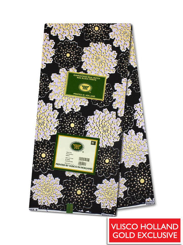 Vlisco Hollandais Gold Exclusive VHWLE122- NEW!