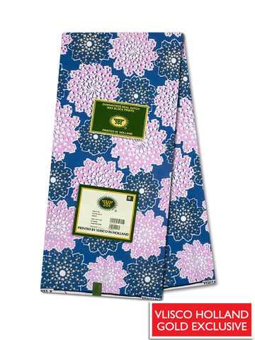 Vlisco Hollandais Gold Exclusive VHWLE124- NEW!