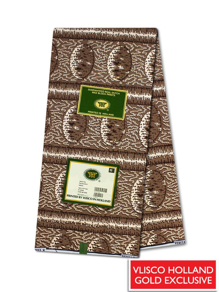 Vlisco Hollandais Gold Exclusive VHWLE132- NEW!