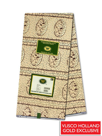 Vlisco Hollandais Gold Exclusive VHWLE133- NEW!