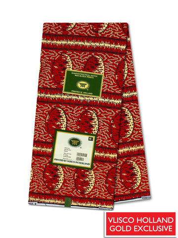 Vlisco Hollandais Gold Exclusive VHWLE134- NEW!