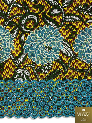 VLISCO LACE - Vlisco Super Wax with Lace Embroidery: VL308