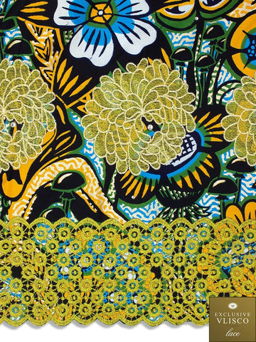 VLISCO LACE - Vlisco Super Wax with Lace Embroidery: VL309