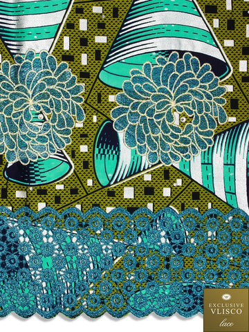VLISCO LACE - Vlisco Super Wax with Lace Embroidery: VL310