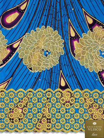 VLISCO LACE - Vlisco Super Wax with Lace Embroidery: VL312