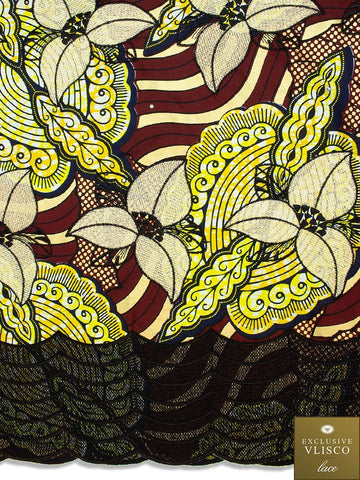 VLISCO LACE - Vlisco Super Wax with Lace Embroidery: VL336