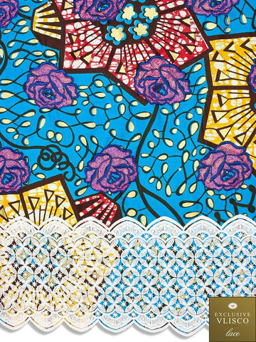 VLISCO LACE - Vlisco Super Wax with Lace Embroidery: VL337