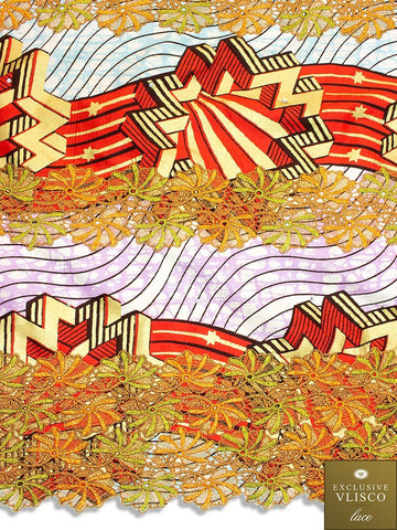 VLISCO LACE - Vlisco Super Wax with Lace Embroidery: VL340