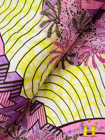 VLISCO LACE - Vlisco Super Wax with Lace Embroidery: VL347