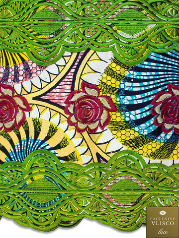 VLISCO LACE - Vlisco Super Wax with Lace Embroidery: VL375