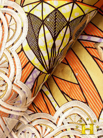 VLISCO LACE - Vlisco Super Wax with Lace Embroidery: VL378