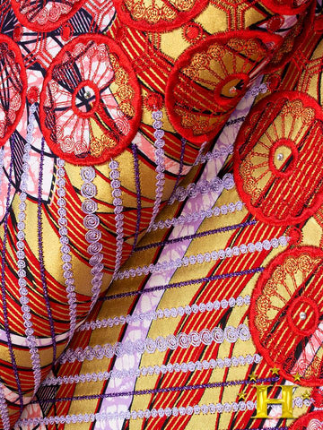 VLISCO LACE - Vlisco Super Wax with Lace Embroidery: VL401