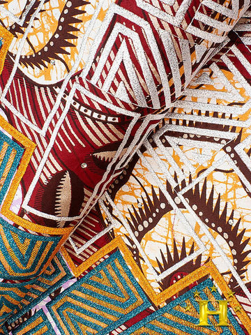 VLISCO LACE - Vlisco Super Wax with Lace Embroidery: VL411