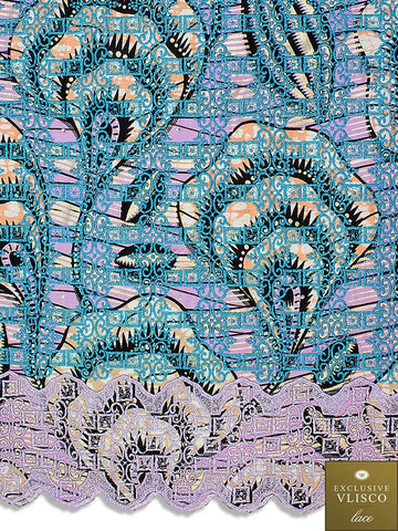 VLISCO LACE - Vlisco Super Wax with Lace Embroidery: VL419
