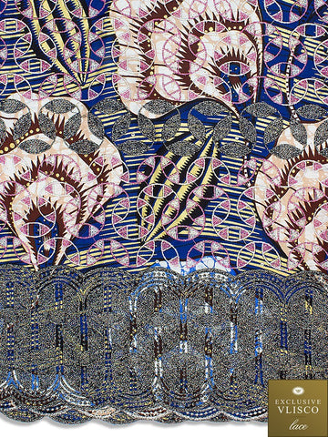 VLISCO LACE - Vlisco Super Wax with Lace Embroidery: VL426