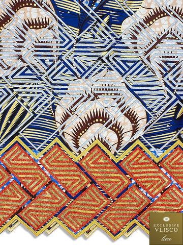 Vlisco Fabric with Lace Embroidery: VL428