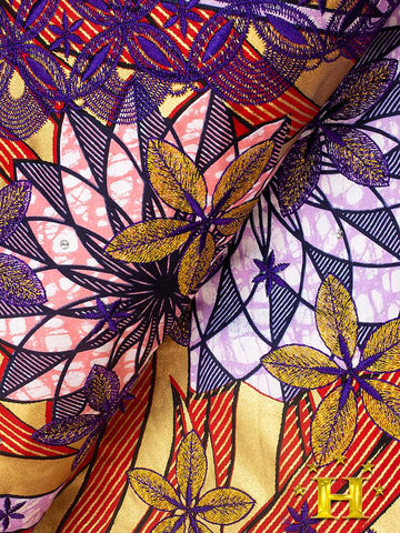 VLISCO LACE - Vlisco Super Wax with Lace Embroidery: VL433