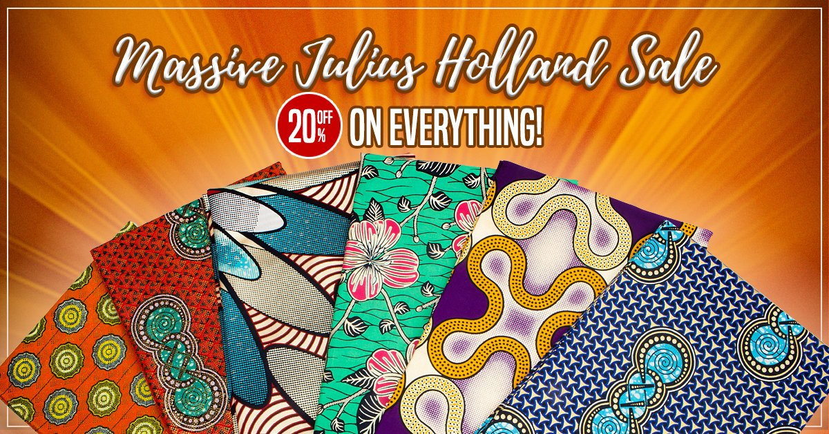 Julius Holland Super Wax available now at Hilton Textiles
