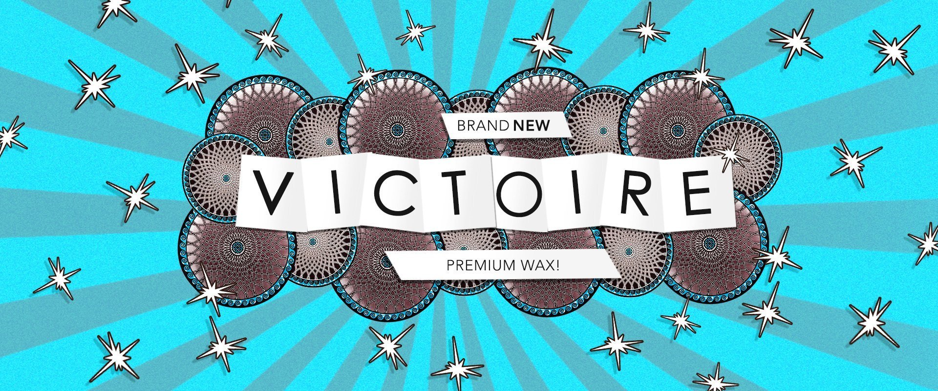 Brand New Victorie Premium Wax Fabric, Exclusive to Hilton Textiles