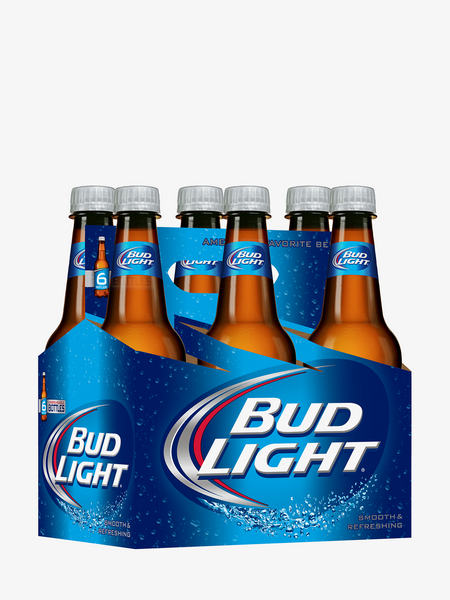Bud Light Bottles 6 Pack