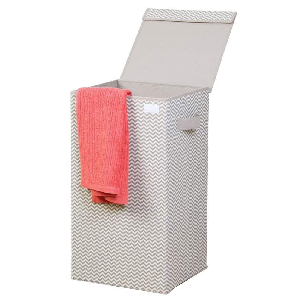 Folding Laundry Hamper with Lid Natural/Taupe