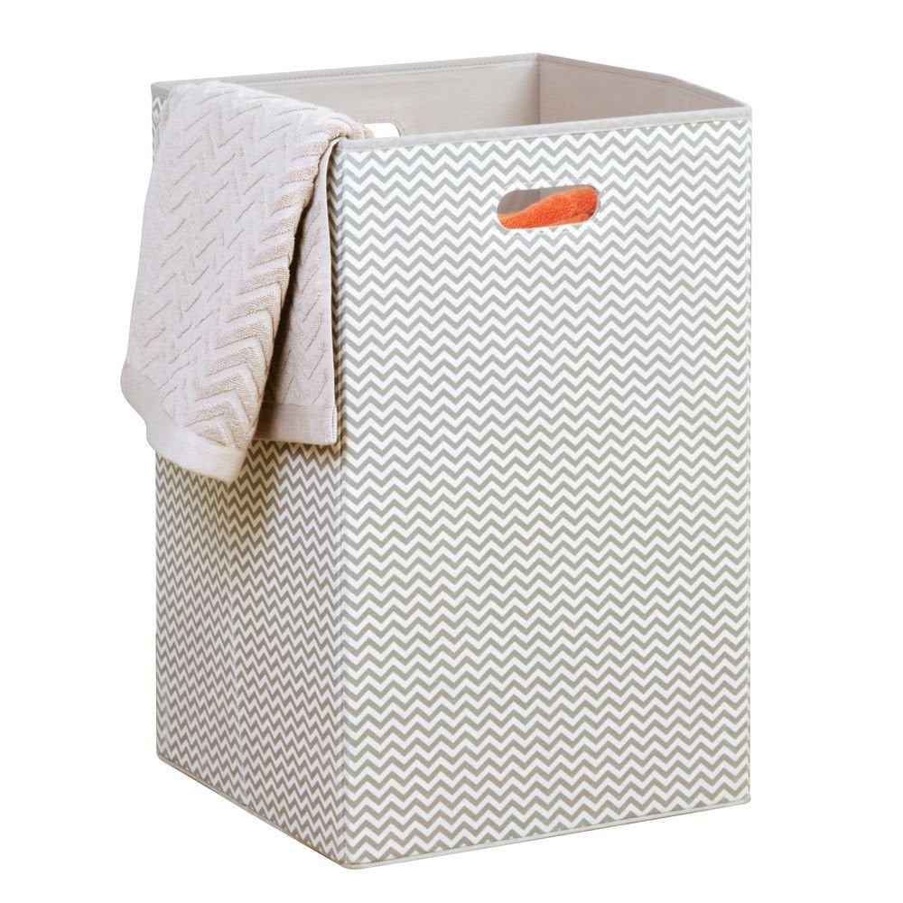 Folding Laundry Hamper Natural/Taupe