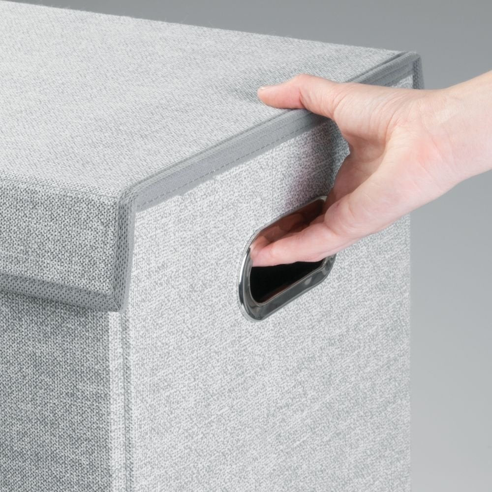 Folding Double Laundry Hamper Grey - The Organised Store