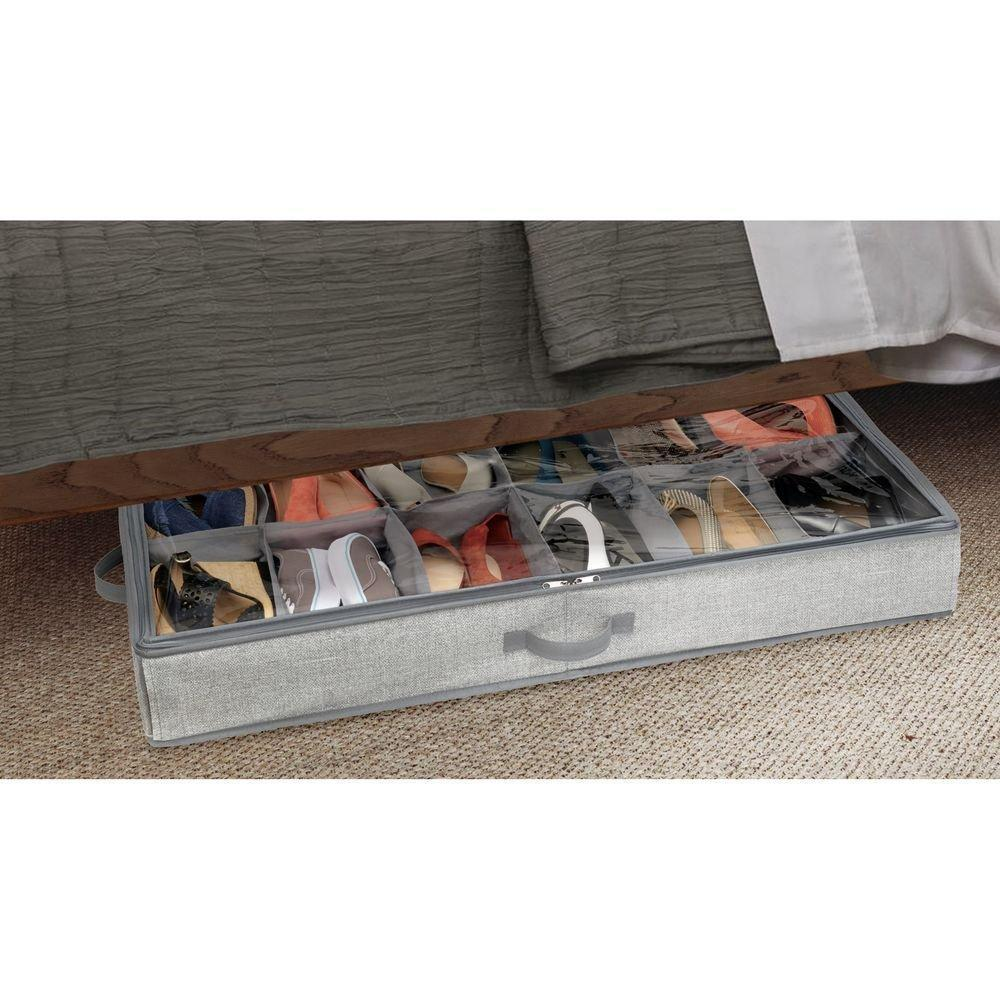 Fabric Under Bed Storage Box 12 Compartments - The Organised Store