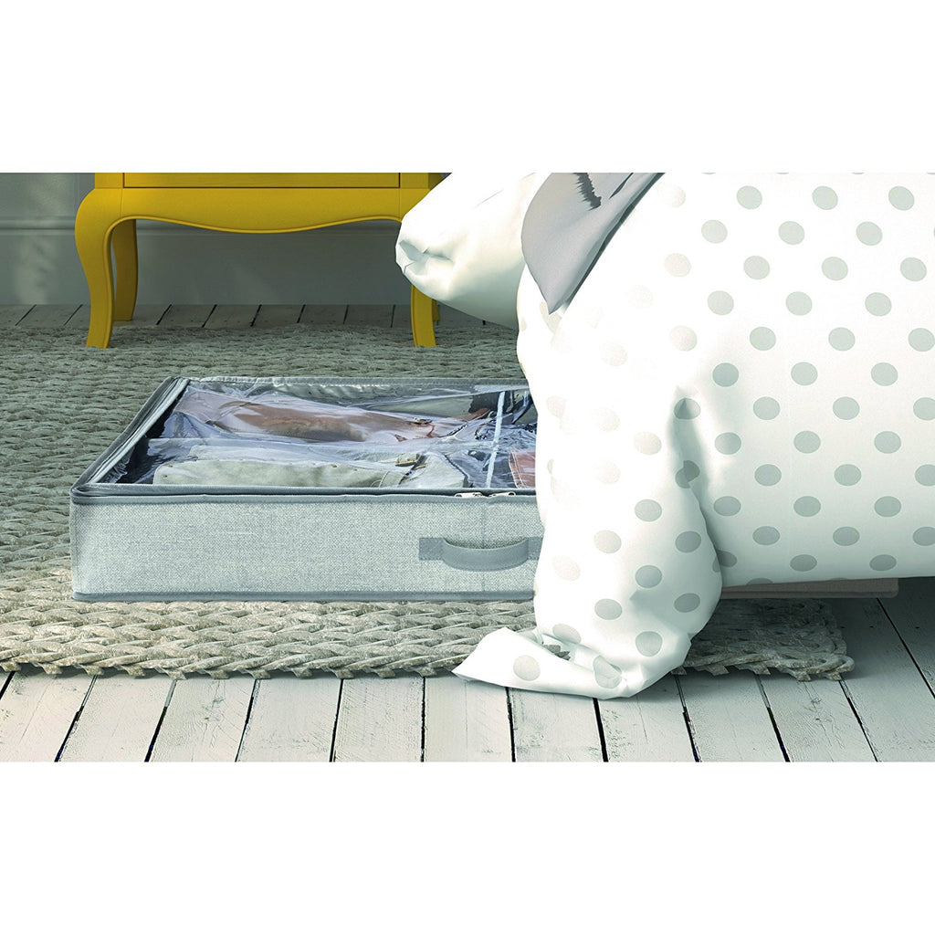 Fabric Under Bed Storage Box 4 Compartments - The Organised Store