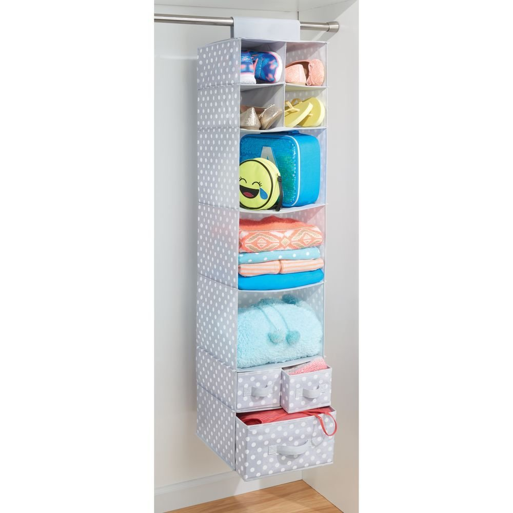 Fabric Closet Organizer Jr 9 Sections 3 Drawers
