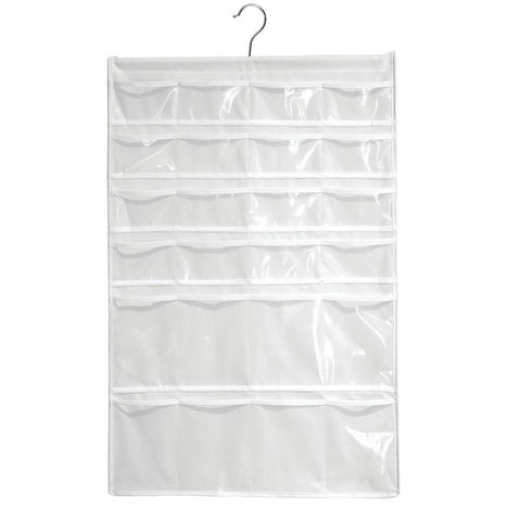 Fabric Over The Door Organizer 16 Pockets White