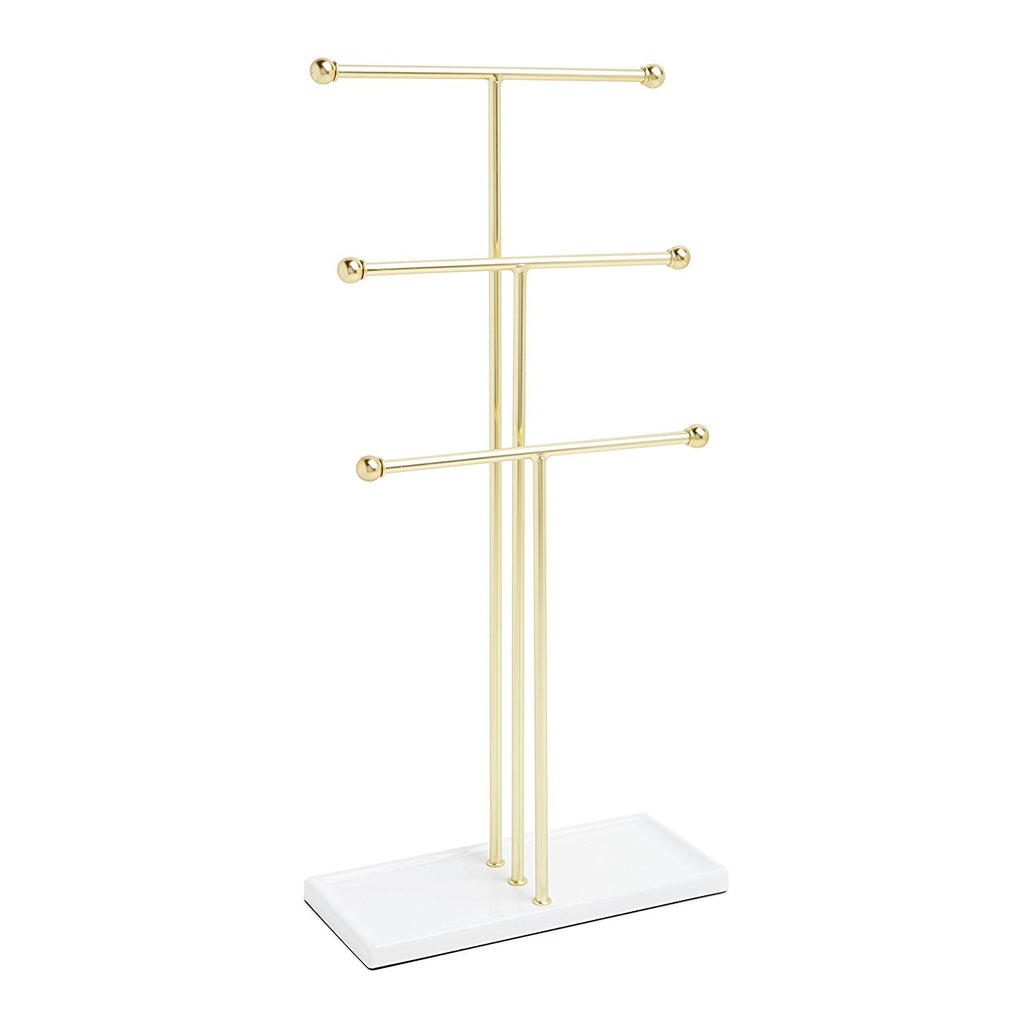 Trigem Jewellery Stand Brass - The Organised Store