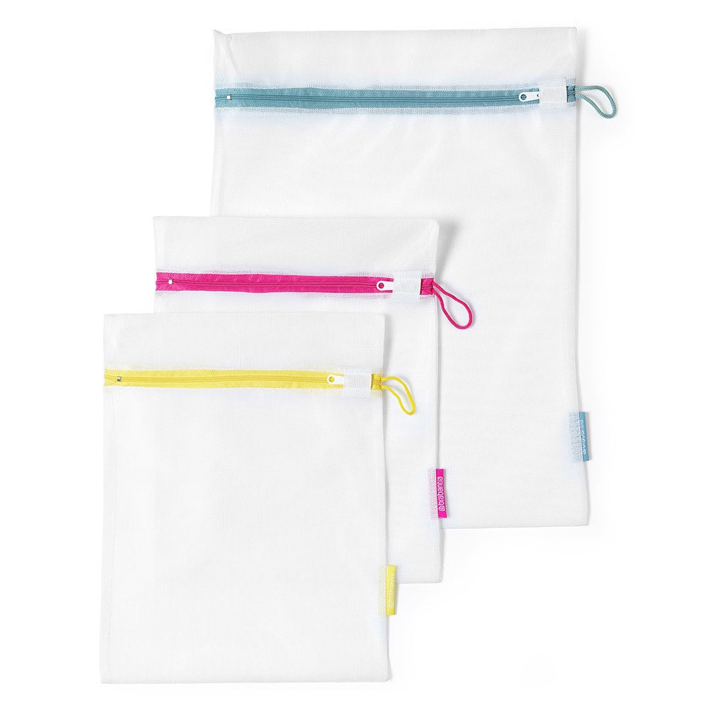 Wash Bags Set of 3 in 2 Sizes White - The Organised Store