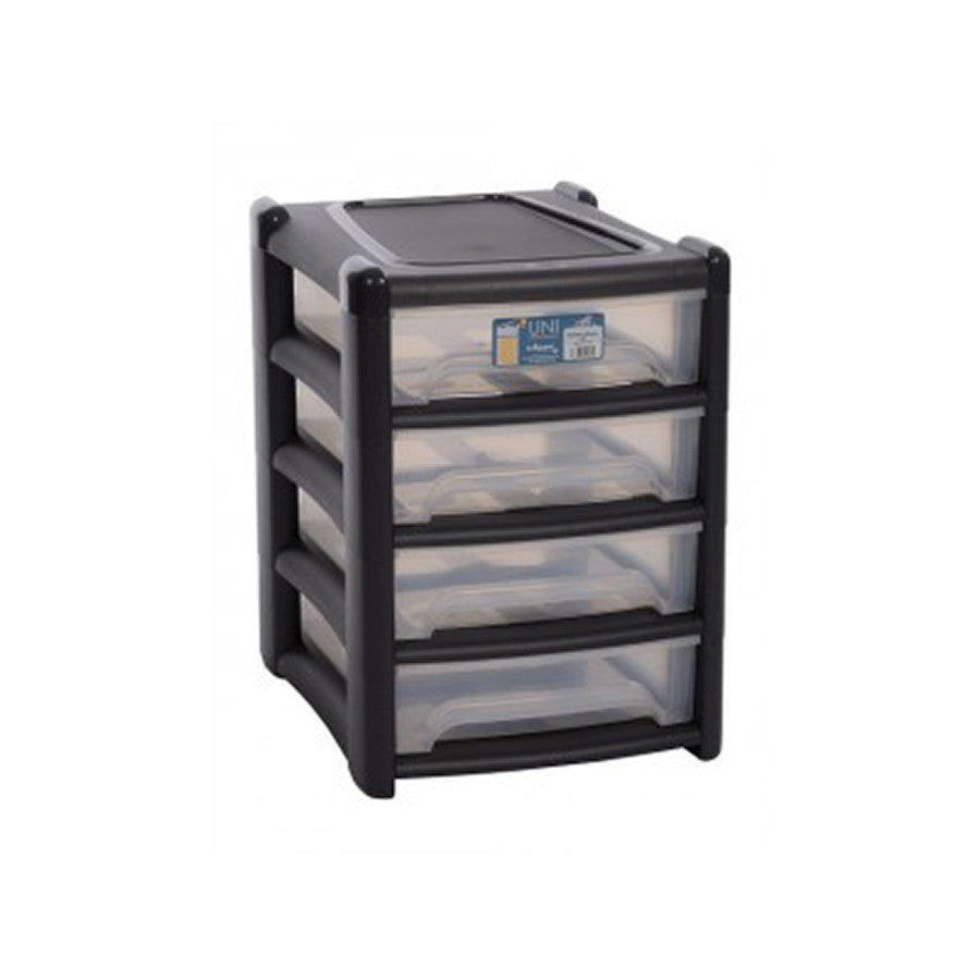 Shallow 4 Drawer Unit