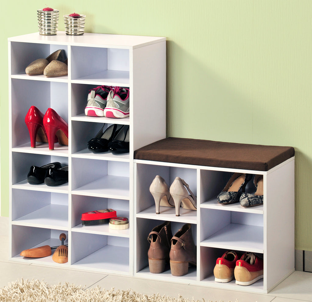 Shoe Shelving Cubbies 12 Pr White - The Organised Store