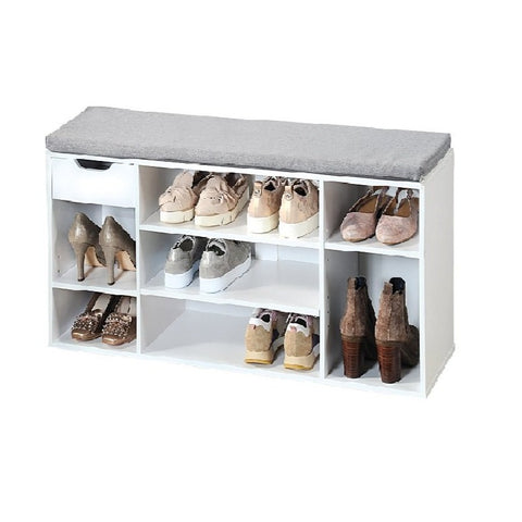 Shoe Shelving Cubbies 12 Pr White