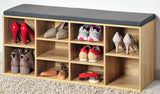 Shoe storage Oak Grey Cushion - The Organised Store