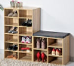 Shoe Shelving Cubbies 12 Pr Oak - The Organised Store
