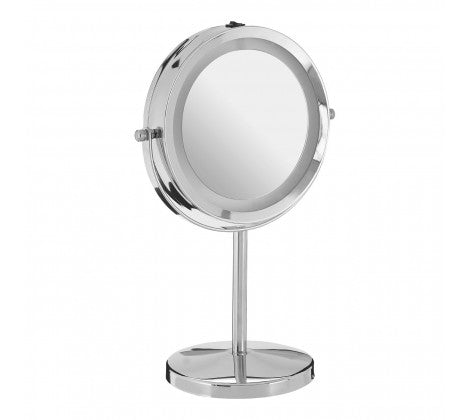 Clara Chrome Plated Led Mirror - The Organised Store
