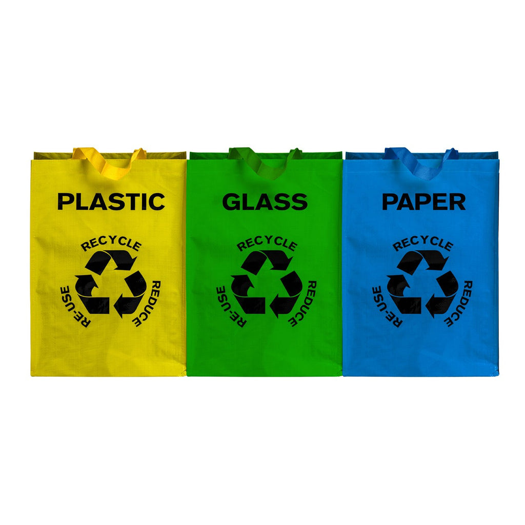 Set of Three Recycle Bags - The Organised Store
