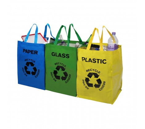 Echo Recycle Bags- Set of three - The Organised Store