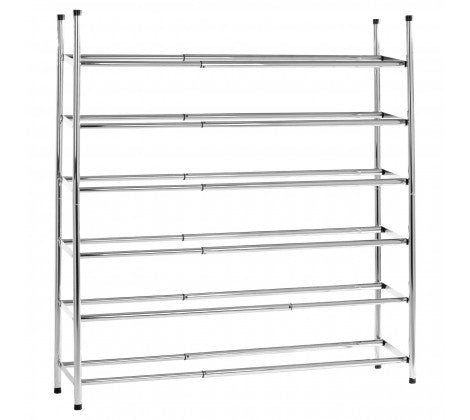 Chrome 6 Tier Extendable Shoe Rack