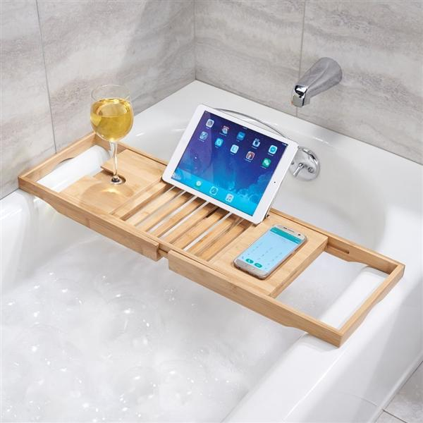 Bamboo Bath Caddy - The Organised Store
