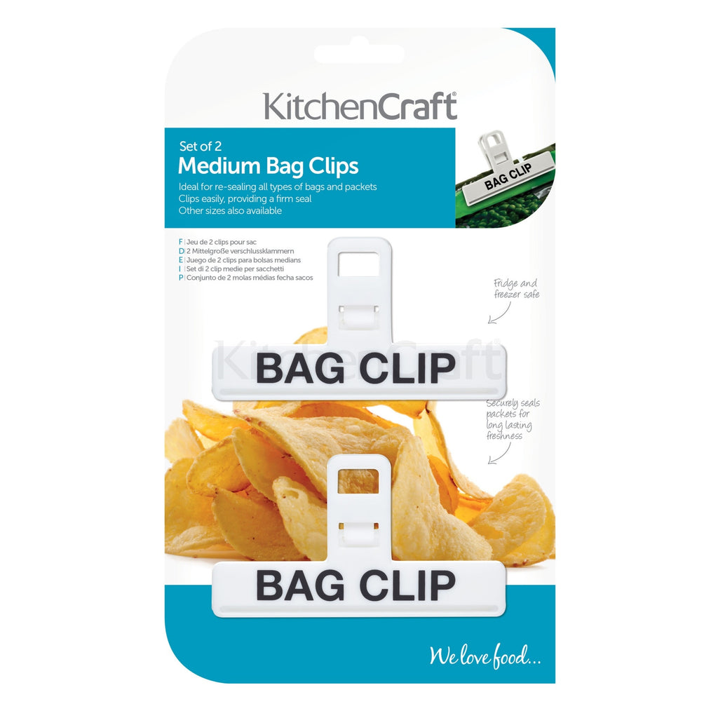 Plastic Bag Clips Medium Pack Of 2